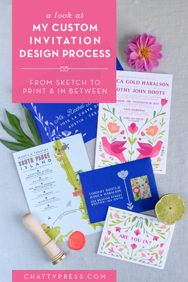 Custom Wedding Invitation Design Process