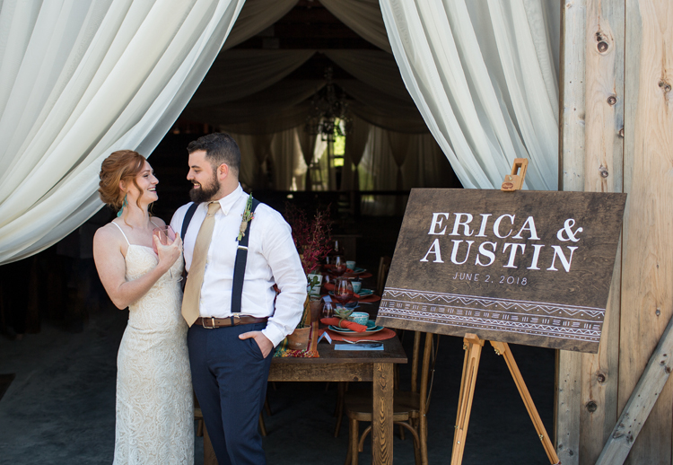 Wood wedding welcome sign, custom designed and hand painted buy the chatty press in Boston and Portland Maine