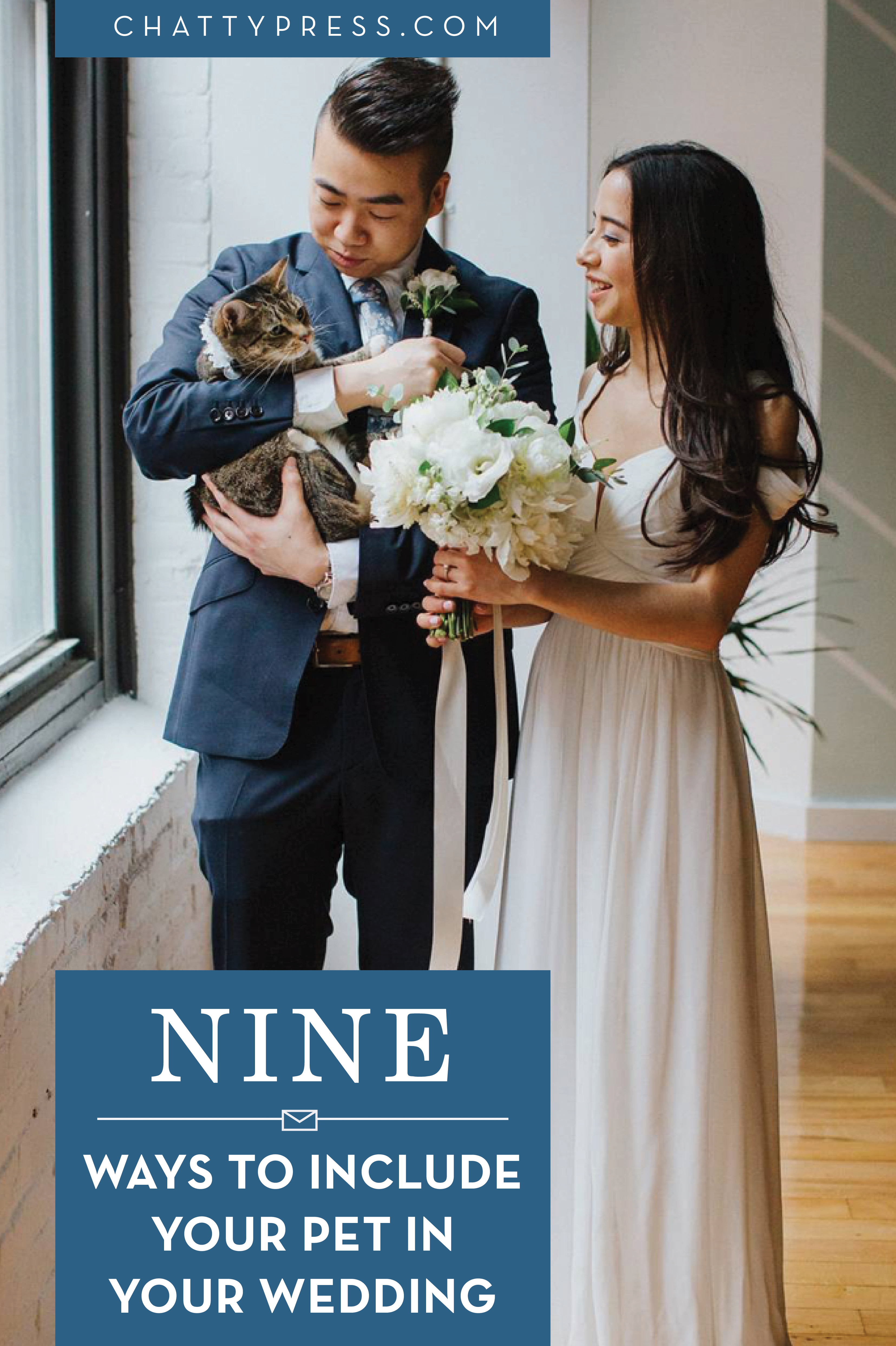 9 ways to include your pets in your wedding day