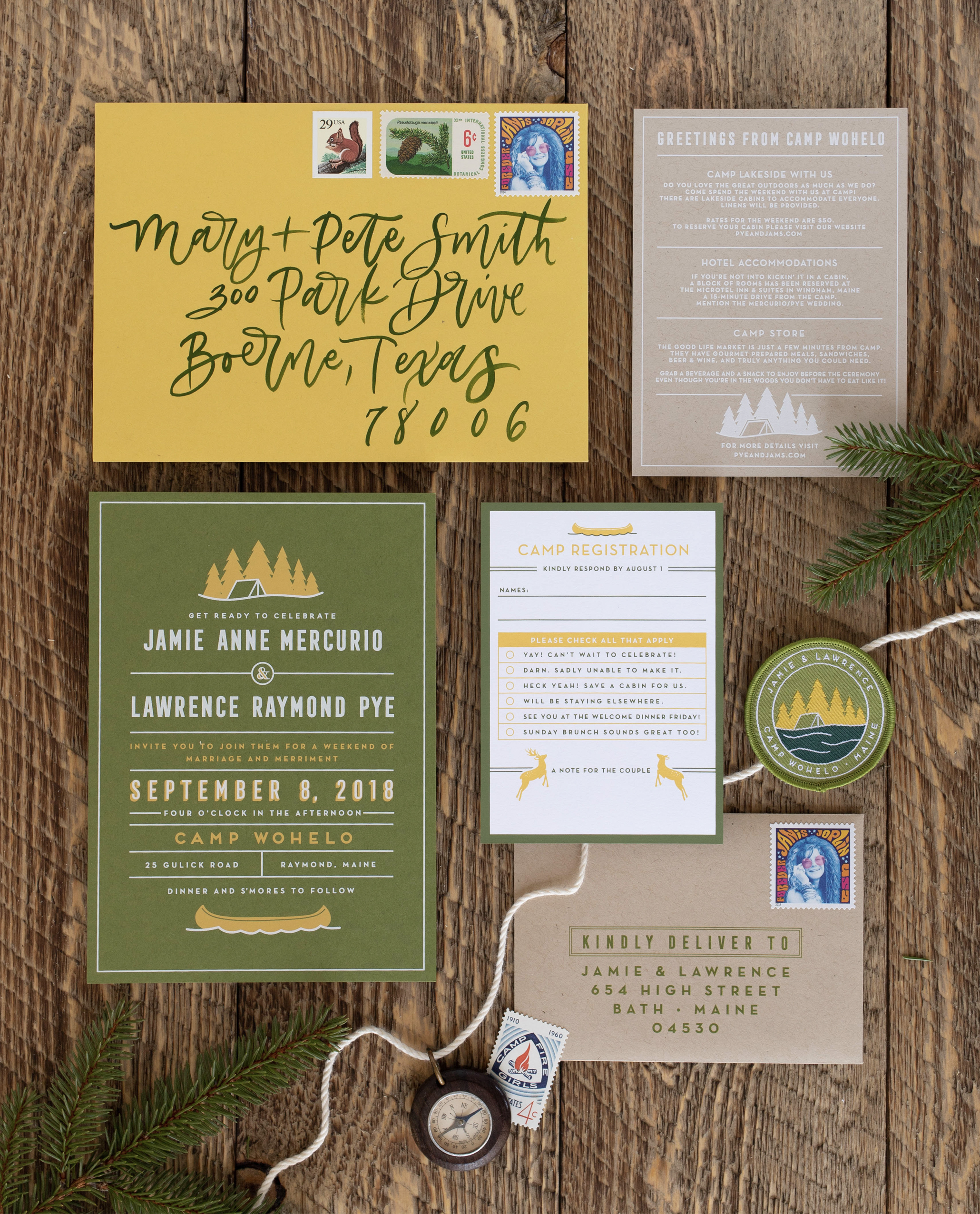 modern unique wedding invitations inspired by nature