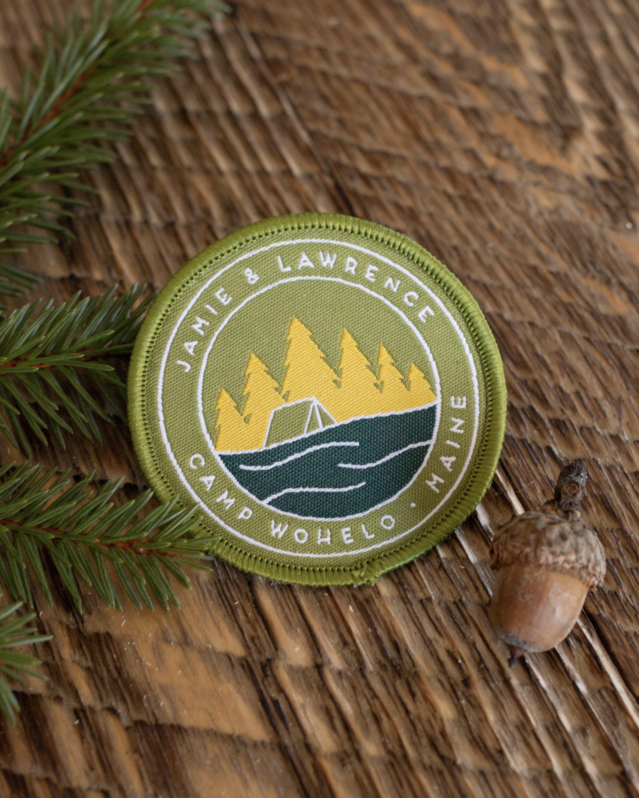 custom designed merit badge for wedding in Maine