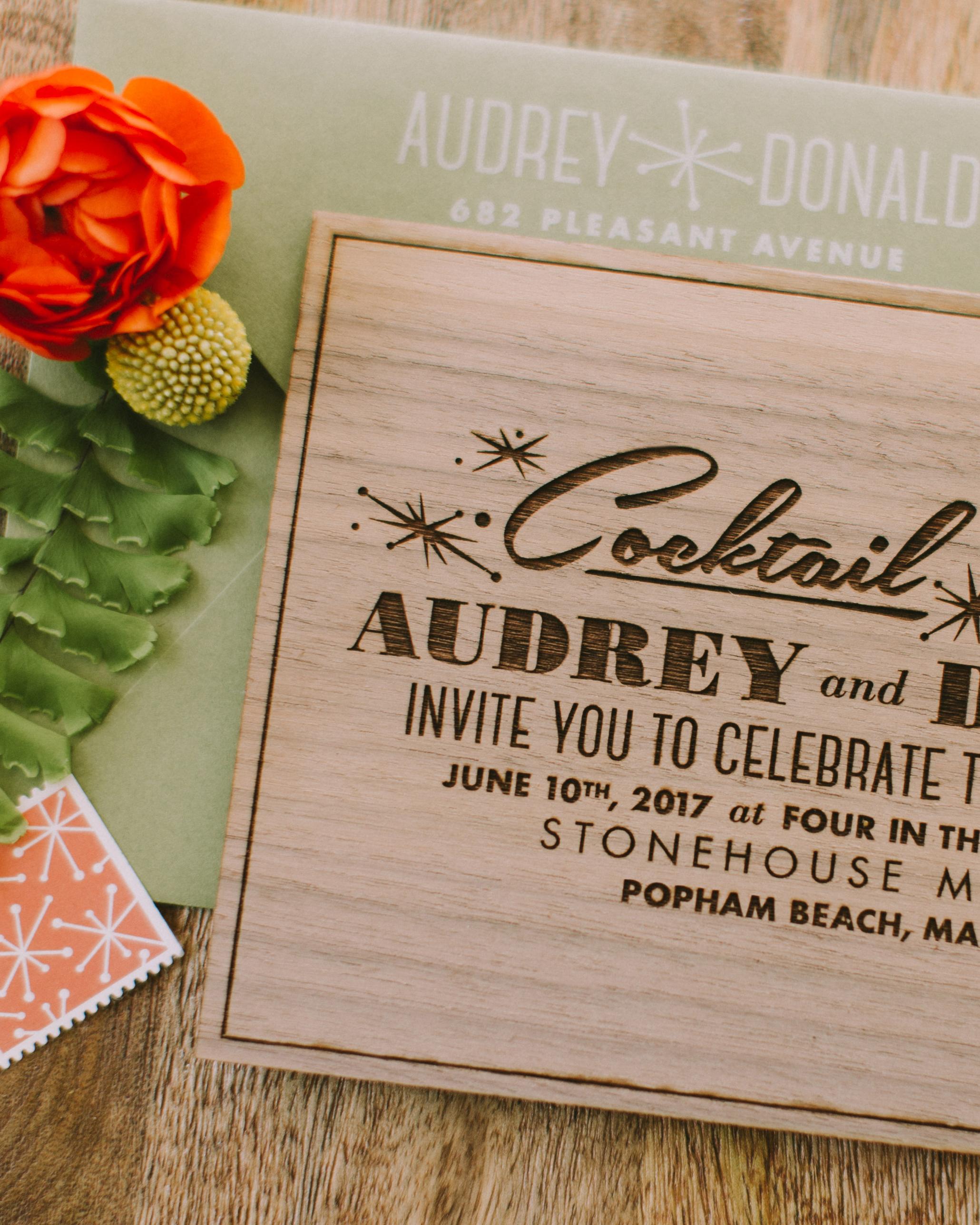 mid-century modern wedding invitation design, custom designed Las Vegas Palm Springs retro wedding invitation suite, luxury one of a kind original wedding invitation, fun and modern