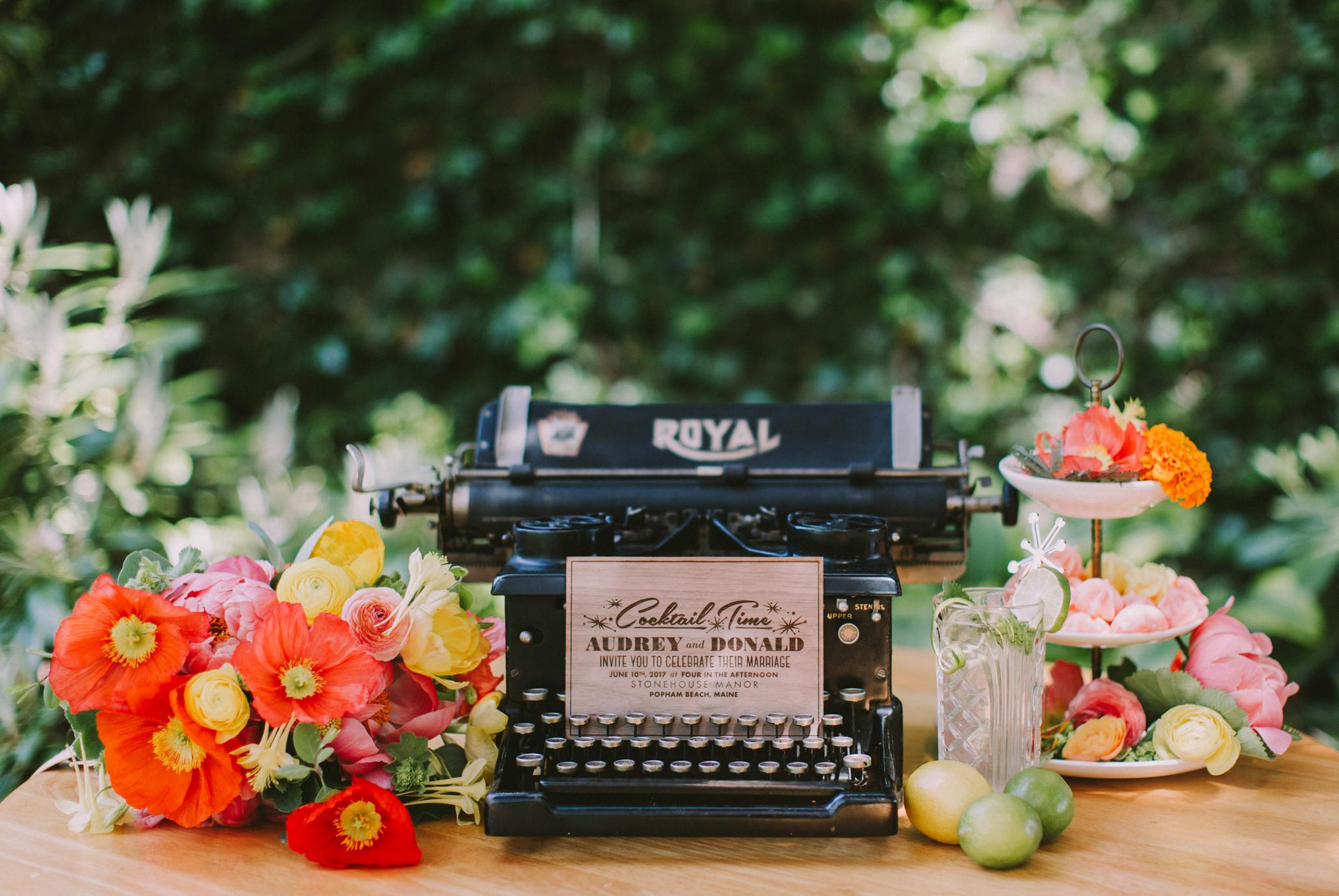 mid-century-modern wedding invitation design, wood laser cut wedding invitations, truly unique and original
