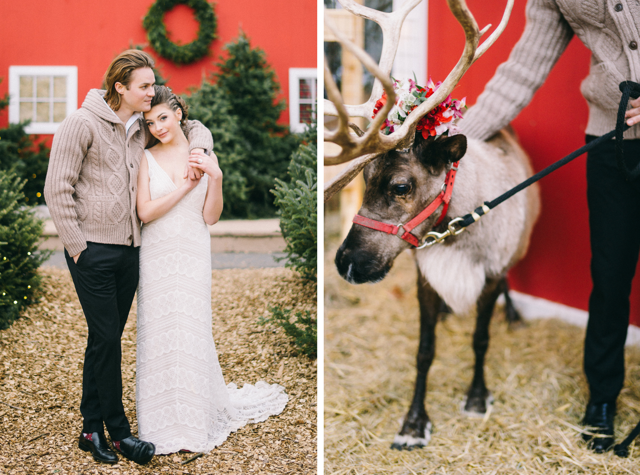 reindeer wedding inspiration