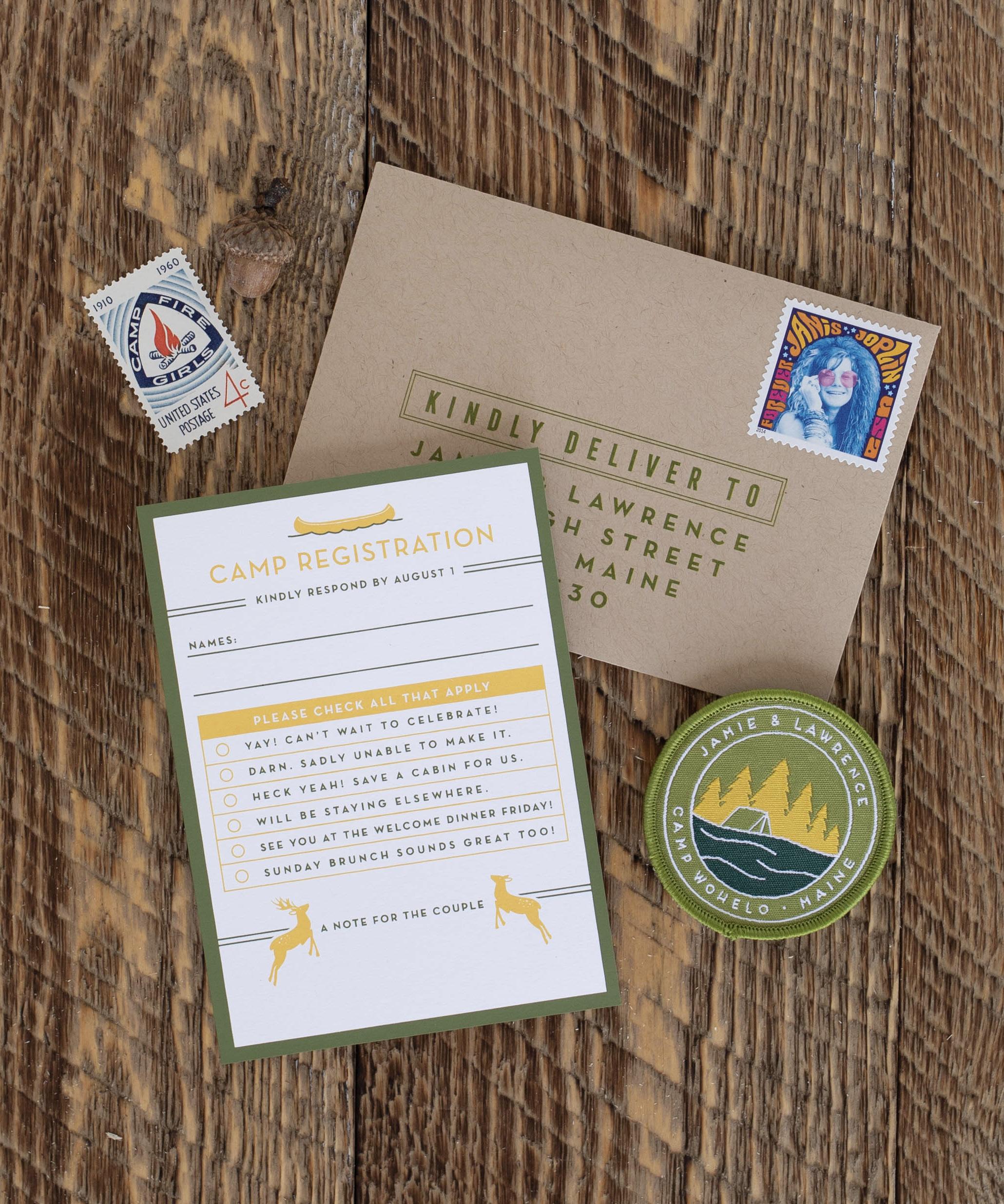 modern wedding invitations nature inspired
